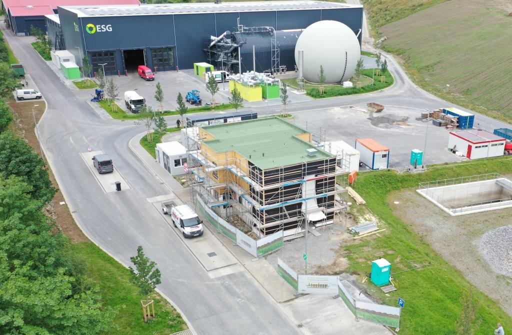 Bau des Infozentrums in Anröchte, Foto ESG