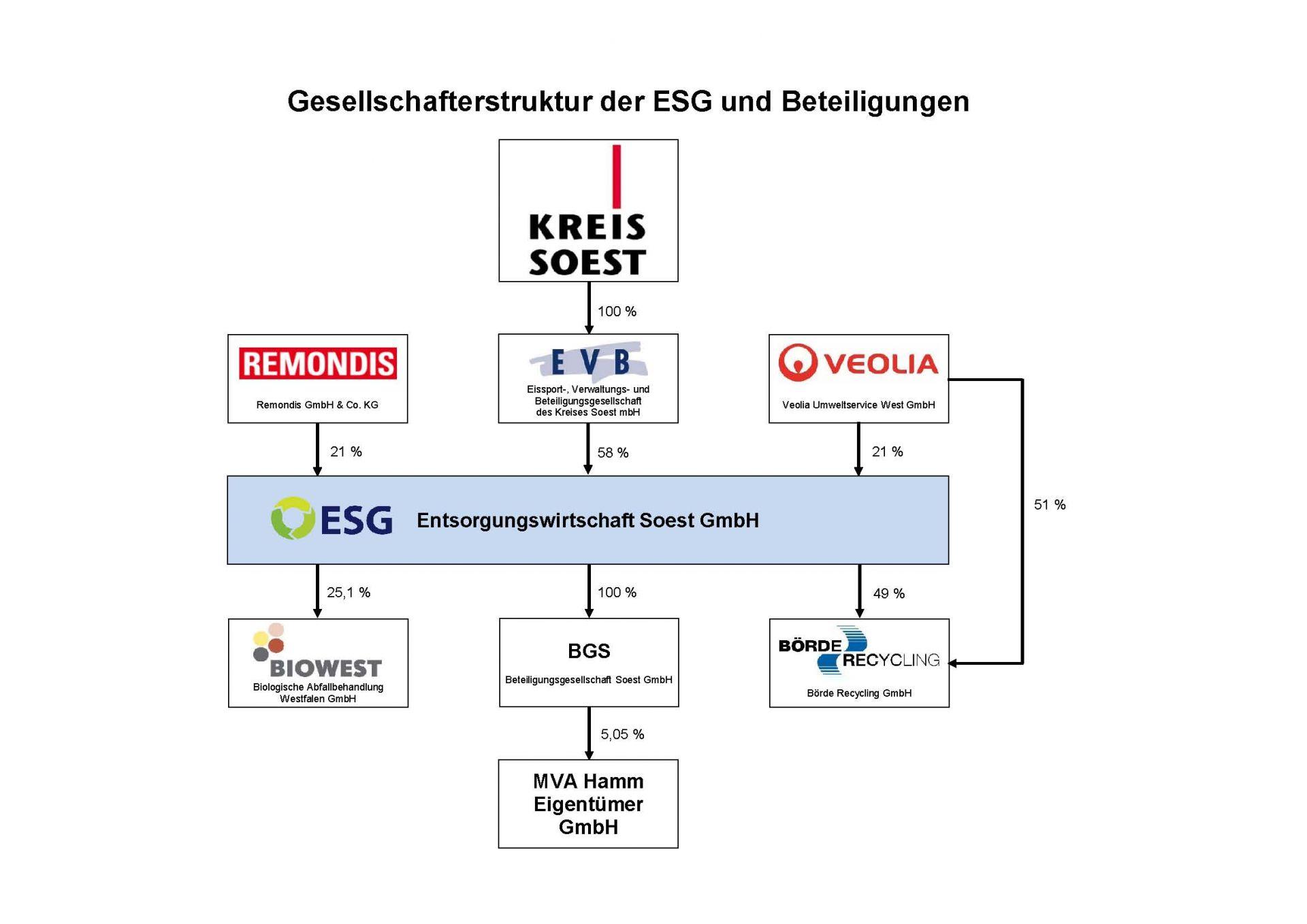 Schaubild Beteiligungen ESG